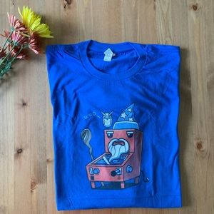 NWOT Blue Tee: The Who Pinball Wizard Owl